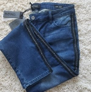 Buffalo Skinny Jean Side Seam Embellishment 30